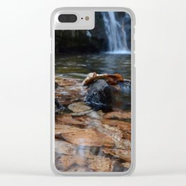 Leaves Underwater at Cascade Falls Clear iPhone Case