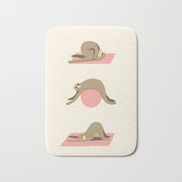 Sloth pilates Bath Mat