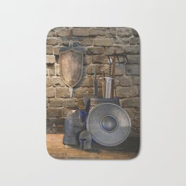 Medieval Weaponry Bath Mat