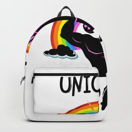 Rainbow And Unicorn Dad Funny Gifts Backpack