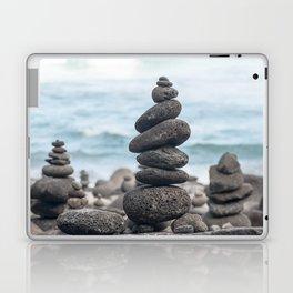 Chorten Rocks on Beach Laptop & iPad Skin