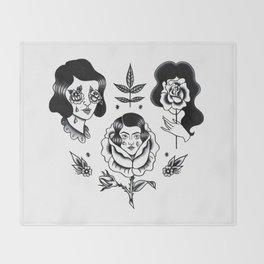 Rose Garden Throw Blanket