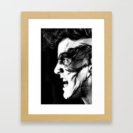 THE ANGRY CROW Framed Art Print