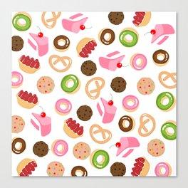 donut & cake & cookies Canvas Print
