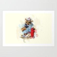 FireOwl Art Print