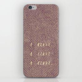 I am. I am. I am. iPhone Skin