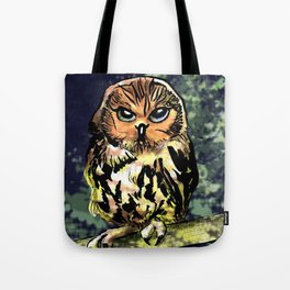 Saw Whet Owl Tote Bag