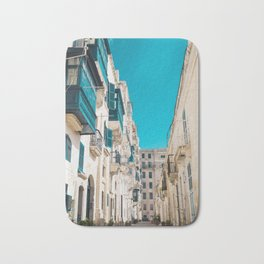 Hidden Street - Valletta, Malta Bath Mat