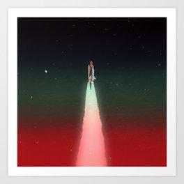 Space Launch Art Print