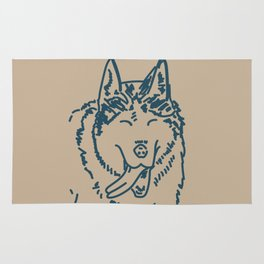 Happy Husky Rug