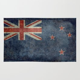 New Zealand Flag - Grungy retro style Rug
