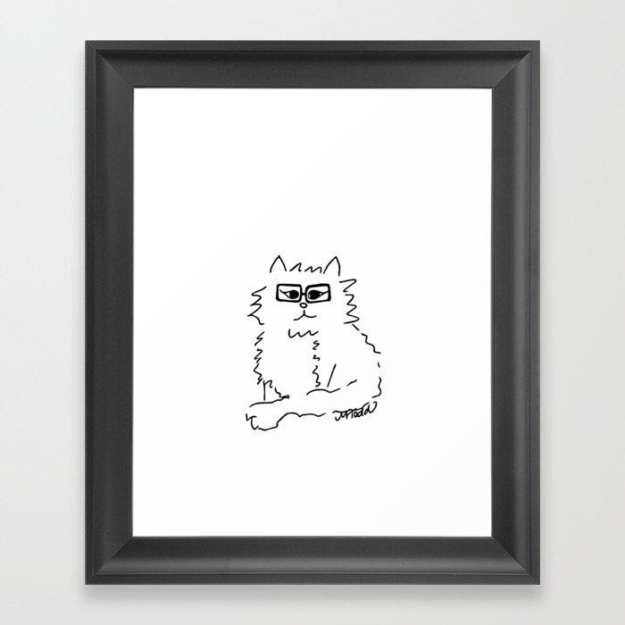 How Do You Like Meow Hipster Kitten Framed Art Print