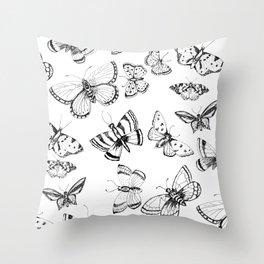 Butterflies and moths Throw Pillow