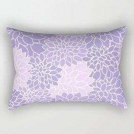 Lavender Dahlias Rectangular Pillow