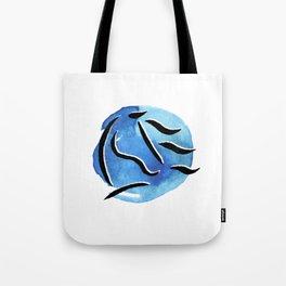 Spirit Horse {Blue Watercolor} Tote Bag