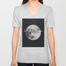 Love you to the moon and back Unisex V-Neck