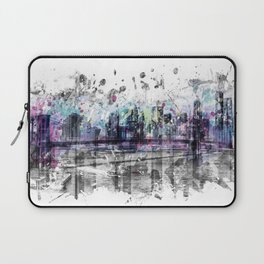 Modern Art NEW YORK CITY Skyline | Splashes Laptop Sleeve