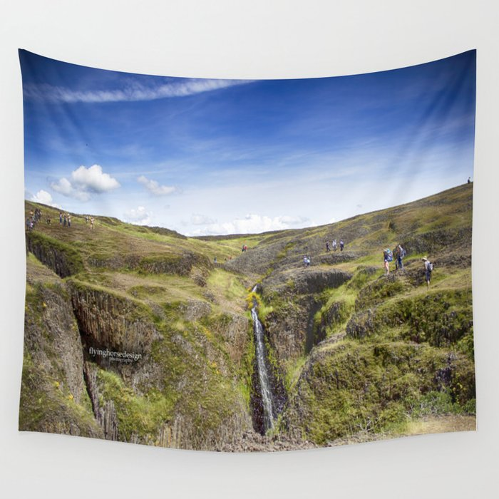 Table Mountain - Superbloom/Waterfall 2017 Wall Tapestry