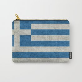Greek Flag - vintage retro style Carry-All Pouch