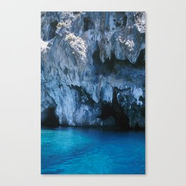NATURE'S WONDER #3 - BLUE GROTTO #art #society6 Canvas Print