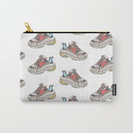 Balenciaga Triple S Sneaker Pattern Illustration Carry-All Pouch