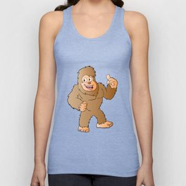 Bigfoot cartoon Unisex Tank Top