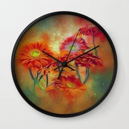 Gerbera Joy Wall Clock