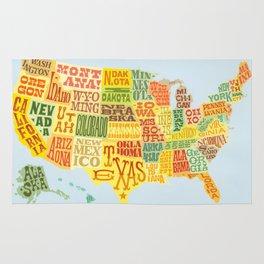 United States of America Map Rug