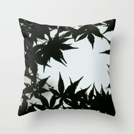 Tokyo's Leaves Throw Pillow