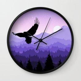 Eagle Skyline Wall Clock