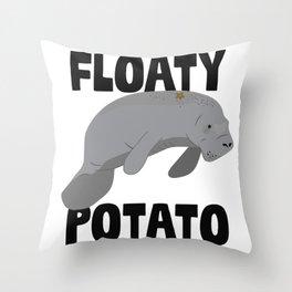 Floaty Potato Throw Pillow