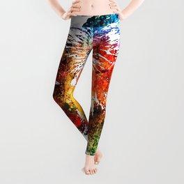 Cow Watercolor Grunge Leggings