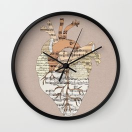 Sound Of My Heart Wall Clock