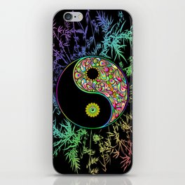 Yin Yang Bamboo Psychedelic iPhone Skin
