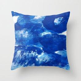 Bold Cerulean Throw Pillow