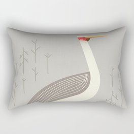 Brolga, Bird of Australia Rectangular Pillow