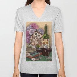 The Tipsy Owl Unisex V-Neck