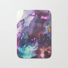 Expressive Flow 1 - Mixed Media Pain Bath Mat