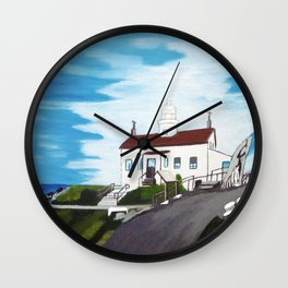 Battery point Lighthouse ( Crescent City, CA ) Wall Clock