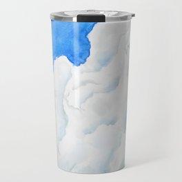 summer cloud watercolor Travel Mug