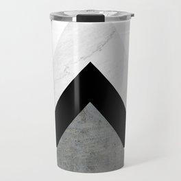 Arrows Monochrome Collage Travel Mug