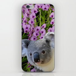 Koala and Orchids iPhone Skin