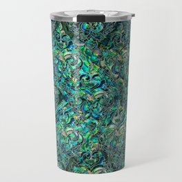 Persian Oriental pattern abalone and silver Travel Mug