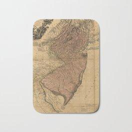 Vintage Map of New Jersey (1777) Bath Mat