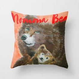 momma bear Throw Pillow