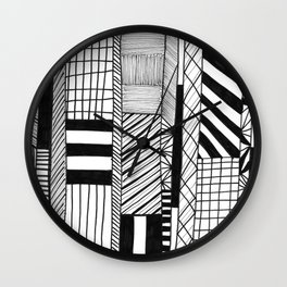 Mono Geo Lines Wall Clock