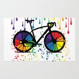 Rainbow raindrops Rug