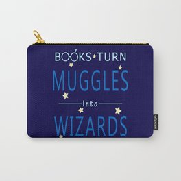 POTTER - BOOKS TURN MUGGLES INTO WIZARDS Carry-All Pouch