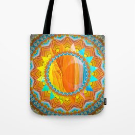 Moon and Sun Mandala Design Tote Bag