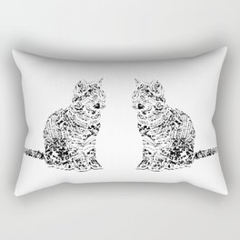 Abstract cats Rectangular Pillow